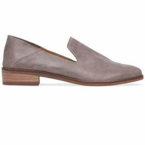 Lucky Brand Cahill Crashback Leather Loafers Grey
